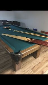 Full size slate Dufferin Pool / Billiards table and accessories