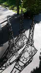 Black Meatal Eifel Towers x 3 - garden sculptures East Branxton Cessnock Area Preview