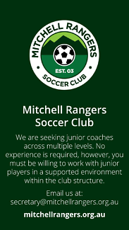 Mitchell Rangers Soccer Club – Junior coaches wanted