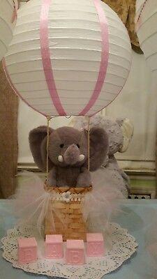 Tutu Baby Shower Centerpiece Elephant Hot Air Balloon or Night - Hot Air Balloon Baby Shower Decorations