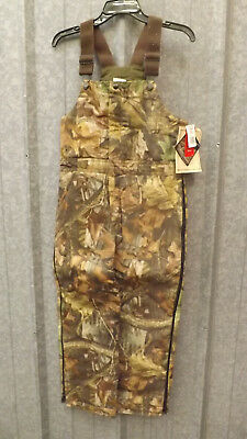 cf3b3f54ac51e New WALLS Realtree Advantage Timber Camouflage Insulated Bib Overalls YOUTH  14