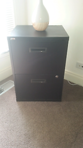Black filing cabinet - 2 drawers Warragul Baw Baw Area Preview