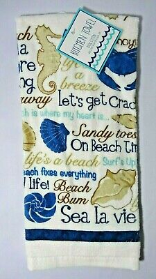 Ritz Sea Life Beach Sayings Kitchen Towel Sea Horse Shells B