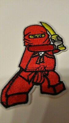 Bügelbild Aufnäher Patch Superhelden Lego Ninja Ninjago bestickt - Ninja Superheld