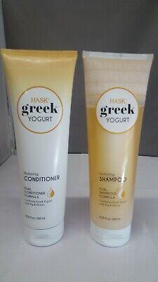 HASK GREEK YOGURT SHAMOO & CONDITIONER 1 OF EA. HYDRATING ,8.5oz