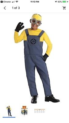 Minion Dave Halloween Costume Child Kid Boy S Despicable Me 3](Dave Halloween)