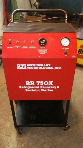 RTI REFRIGERANT & RECOVERY RECLAIM STATION # RR750X