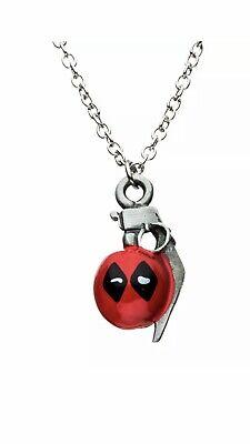 "Marvel Deadpool Grenade Pendant Necklace ""A1"""