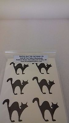 20 - 500 scary black cat stickers  fun for children  cats  Halloween spooky](Fun Crafts For Kids Halloween)