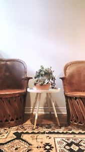 Mexican Equipale Leather Chairs