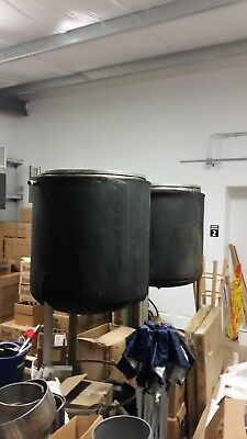 150 Gal Insulated Stainless Steel Jacketed Tank Kettle With Lid