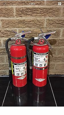 Set Of 2 Fire Extinguisher 5Lb 5  Abc New Cert Tag  Scratch Dirty