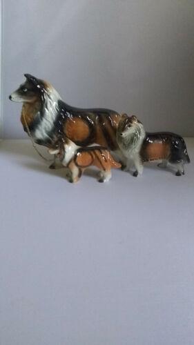 Vintage Ceramics Japan collie Figurines