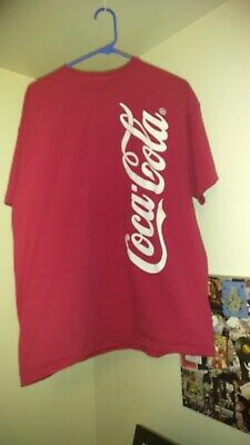 RED COCA COLA T SHIRT XL