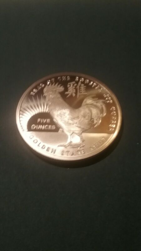 5oz Copper Round - Year Of The Rooster