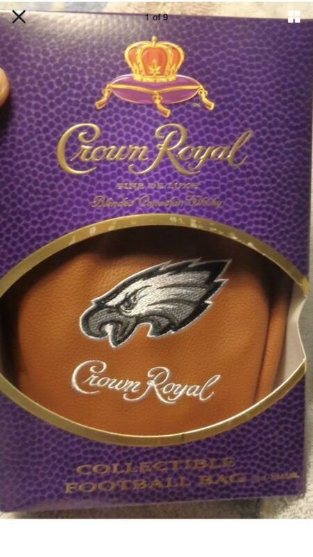 Football Limited Edition Philadelphia Eagles Crown Royal Bag And Box With