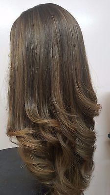 Malky Wig Sheitel 100% European Kosher Human Hair Medium Brown / Highlights for sale  Shipping to India