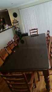 Large dining table set 2.4 long x 1150 wide Milperra Bankstown Area Preview