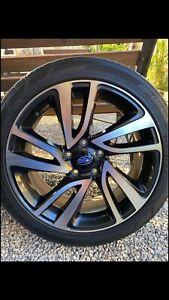 Subaru wheels rims mag tyres Dunlop 225 45 R18 , 5x114.3