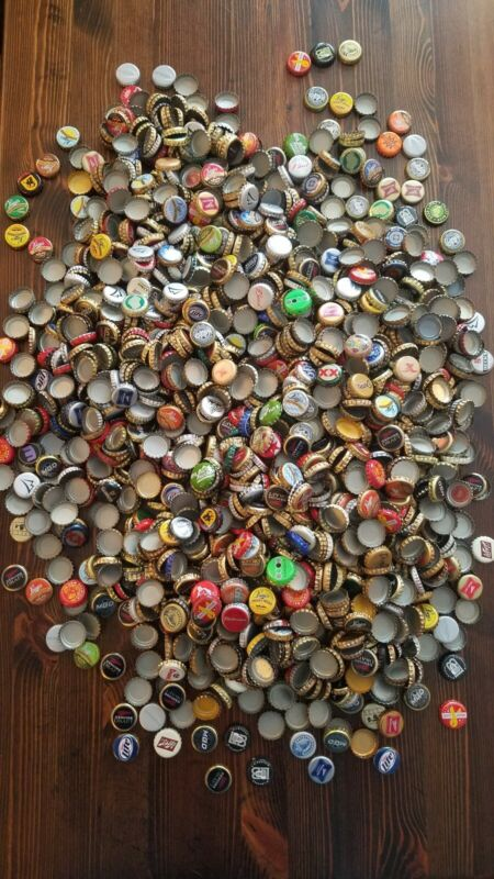 LOT of 100 Random Assorted Bottle Caps! No Dents or Creases! Huge Selection!