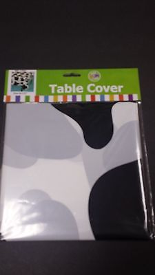 Cow Print Plastic Tablecloth (COW PRINT 54
