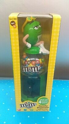 M&M Green Girl with Sunglasses Candy Dispenser and Coin Bank New In (Sunglasses Vending Machine)