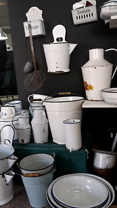 Retro vintage shabby chic enamelware Fremantle Fremantle Area Preview