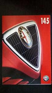 Depliant-Brochure-ALFA-ROMEO-145-Colori-carrozzeria-Rivestimenti-interni-1997