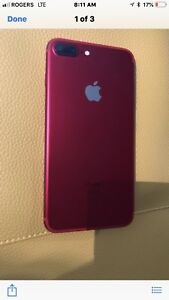 Red m, Limited Edition IPhone 7Plus, 128gb, $800