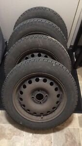 Snow Tires and Rims 185/60R15 84T $550 OBO
