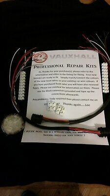 Vauxhall Opel ZAFIRA B (2006-2014) REAR Door - 2 X Wiring Loom Repair kits both