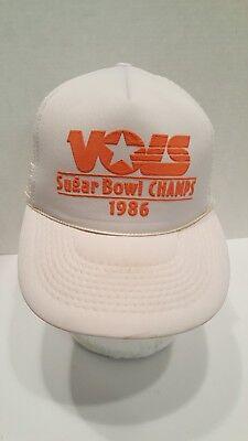 Vintage Tennessee Vols Sugar Bowl Champs 1986 Trucker Hat  Sugar Bowl Hat