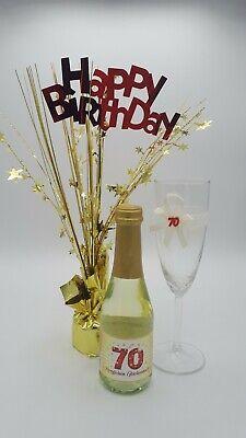 Geschenk Set 70.Geburtstag Frau Geschenk Idee Sektglas Geburtstagsgeschenk