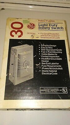 Ge Safety Switch Tc23111cp 30 Amp 125 Acdc Single Pole Indoor Fusible