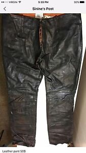 Small size leather pants and jeans