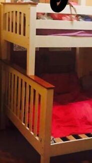 White Timber Double/Single Bunk Bed