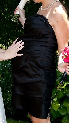- Davids Bridal Black Cocktail Formal Evening Dress Wedding Bridesmaid Pregnancy