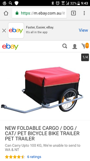 New foldable cargo/ pet bicycle trailer