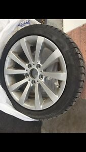 4 Bmw winter tires and rims 225 45 R17