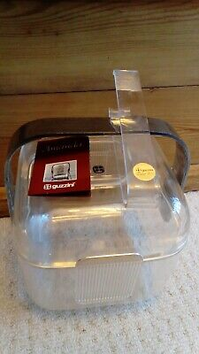 Vintage Italian Guzzini Lucite Ice Bucket with tongs