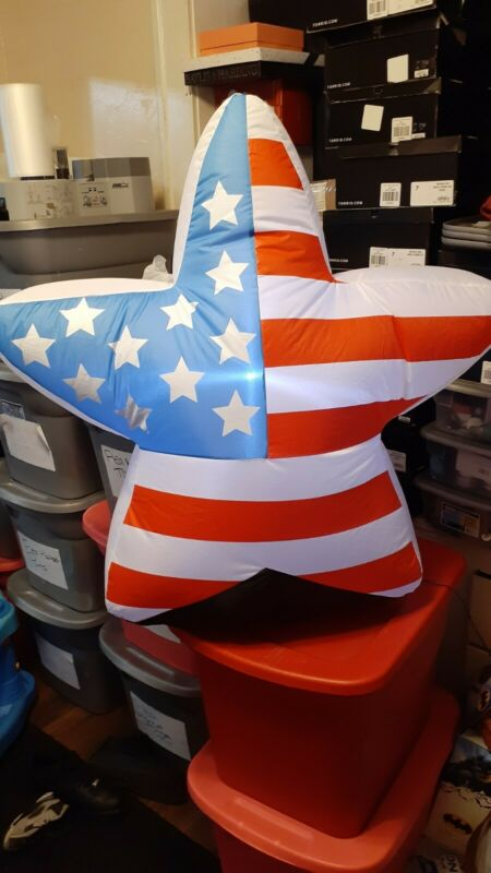 Large Star Patriotic Airblown Inflatable Yard