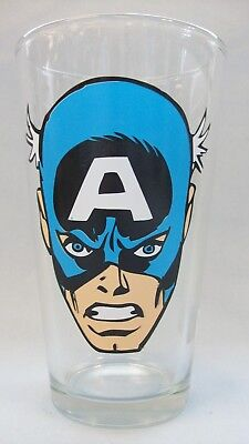 Captain America ~ Face ~ New Drinking Glass from ICUP - Captain America Glasses