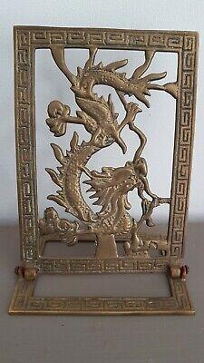 Asian bronze laiton plaque. Plaque en bronze laiton Asie Dragons Chine