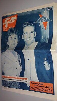 Zeitung Zeitschrift - Sport im Bild - 13 Olympische Winterspiele 1960 DDR