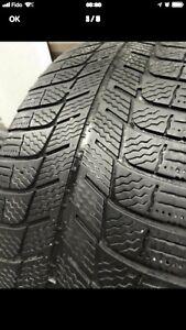 215-55-16 Michelin X-ice hiver 4 pneu 4/32