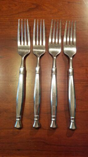 4 Oneida ACT II Dinner Forks Cube Mark Stainless Flatware