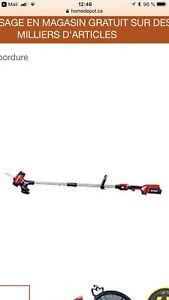 (Weed eater) Coupe-bordures TORO à batterie rechargeable