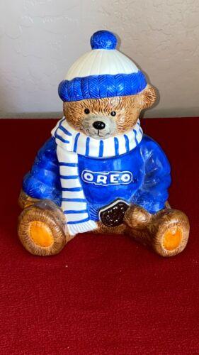 Oreo Teddy Bear Winter Scarf Cookie Jar Nabisco