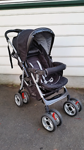 Steelcraft Acclaim reverse handle stroller pram black circles Hornsby Heights Hornsby Area Preview