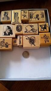 Rubber stamps for craft Xmas Mitcham Whitehorse Area Preview